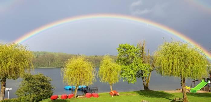 Weiher Regenbogen
